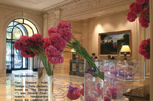 George V Paris Luxury Romantic Getaways at the Four Seasons Hotels - EAT LOVE SAVOR International luxury lifestyle magazine and bookazines