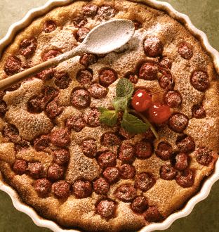Cherry Clafoutis Rediscover: Cherries EAT LOVE SAVOR International luxury lifestyle magazine and bookazines