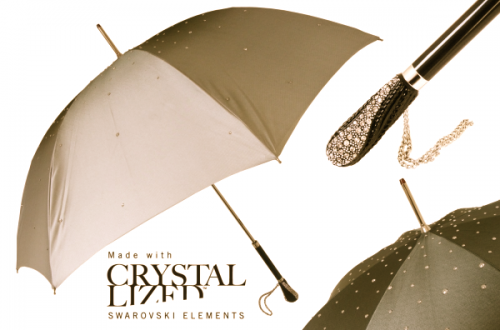 Pasotti Umbrella with Swarovski crystals Discover: Luxury Umbrellas by Pasotti Ombrelli, Italy EAT LOVE SAVOR International luxury lifestyle magazine and bookazines