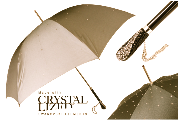 Pasotti Umbrella with Swarovski crystals Discover: Luxury Umbrellas by Pasotti Ombrelli, Italy - EAT LOVE SAVOR International luxury lifestyle magazine and bookazines