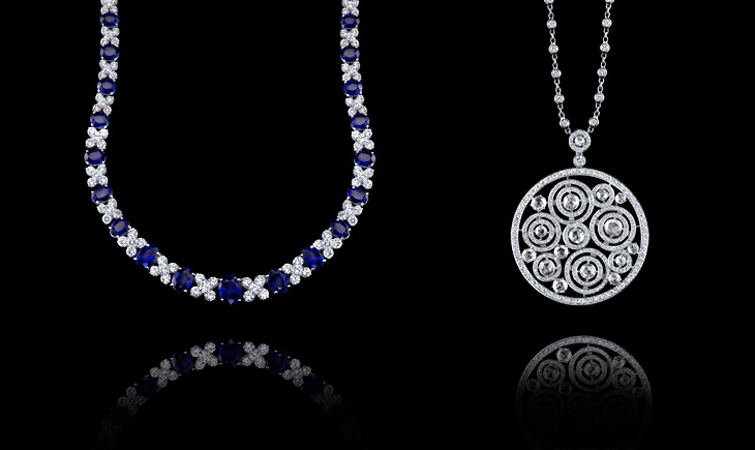 Philip Press platinum necklaces