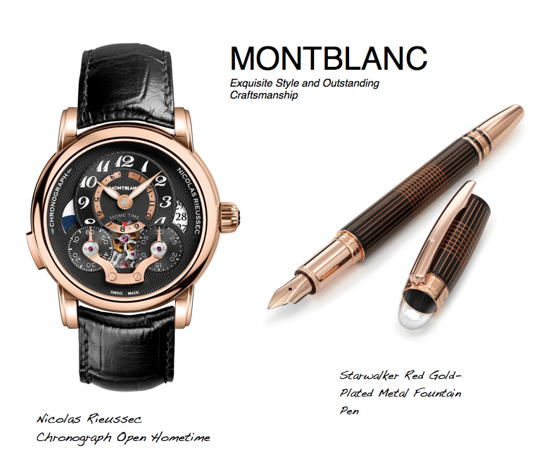 Montblanc Starwalker and Nicolas R chonograph watch1