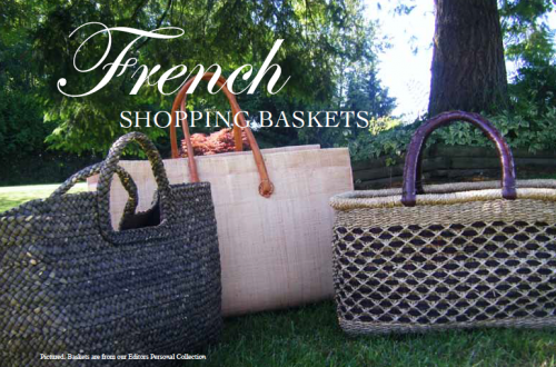 French shopping baskets
