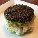 Caviar, Crab and Avocado Tower