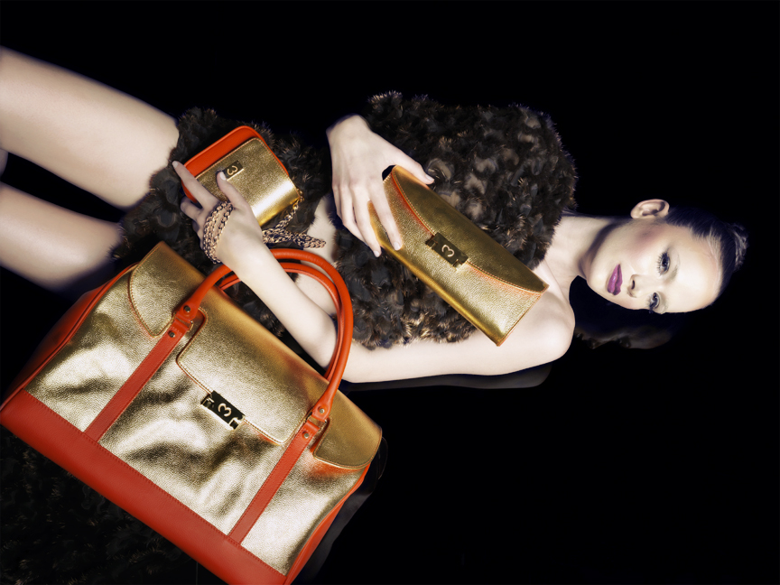MODEL WGOLD BAGS Discover: Mi Piaci the World's First 24kt Gold Leather & Fur Collection - EAT LOVE SAVOR International luxury lifestyle magazine and bookazines