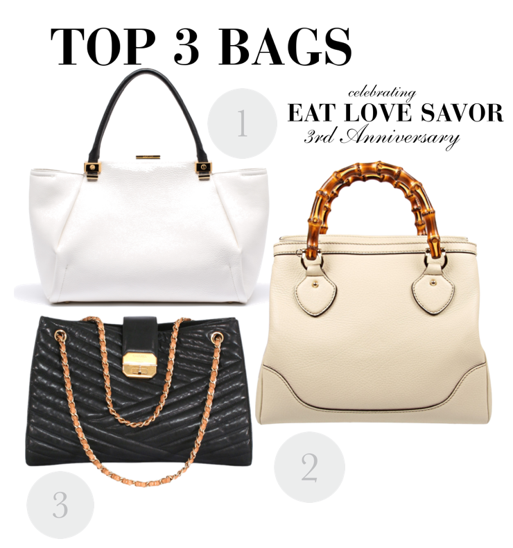 3rd anniversary top 3 bags