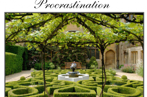 Pondering Procrastination Pondering: The Art of Procrastination EAT LOVE SAVOR International luxury lifestyle magazine and bookazines