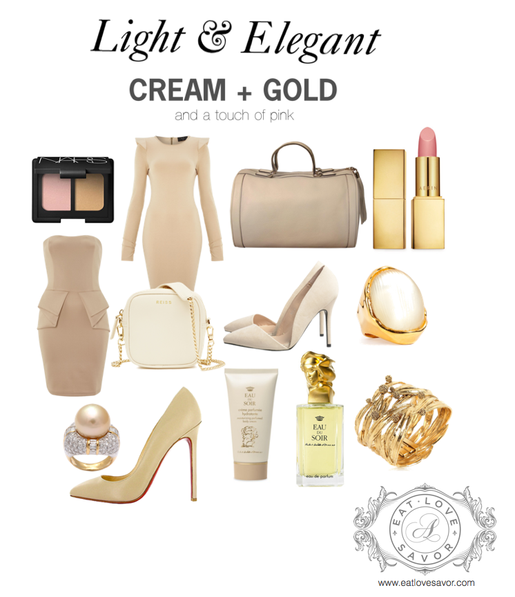 cream and gold editorial