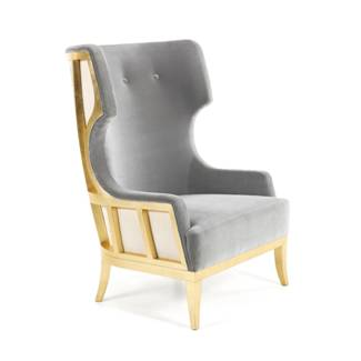 munna chair grey gold