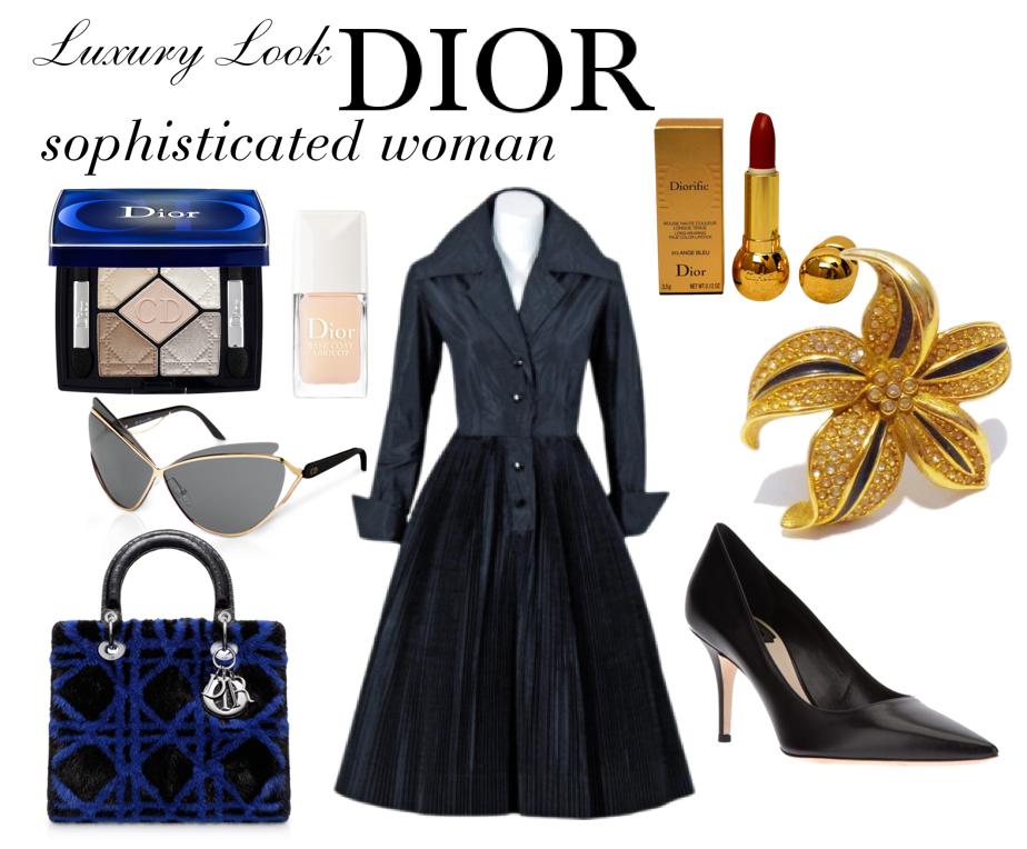 luxury look in Dior