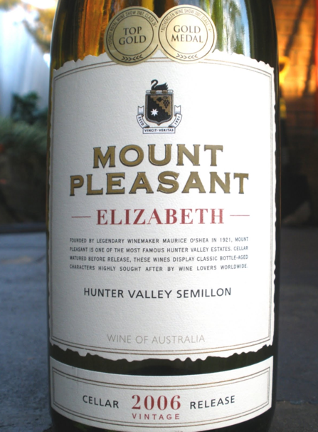 McWilliams Mount Pleasant elizabeth semillon