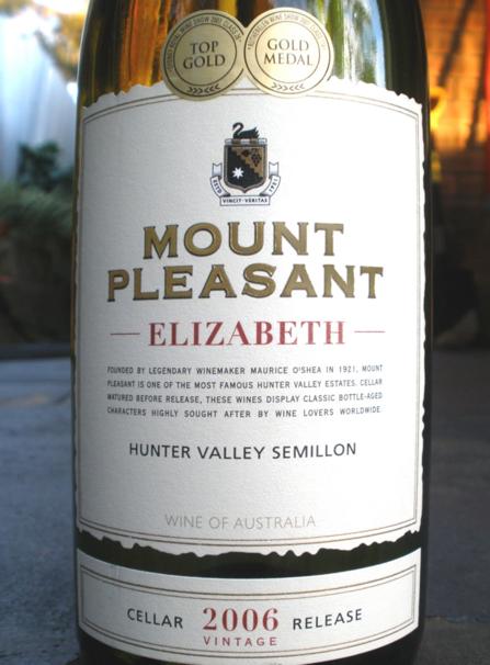 McWilliams Mount Pleasant elizabeth semillon