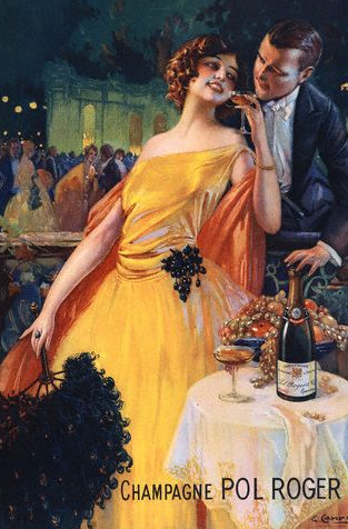 Champagne Pol Roger Poster by Gaspar Camps The Family of Pol Roger Champagne and their Famous Friend Sir Winston Churchill - EAT LOVE SAVOR International luxury lifestyle magazine and bookazines