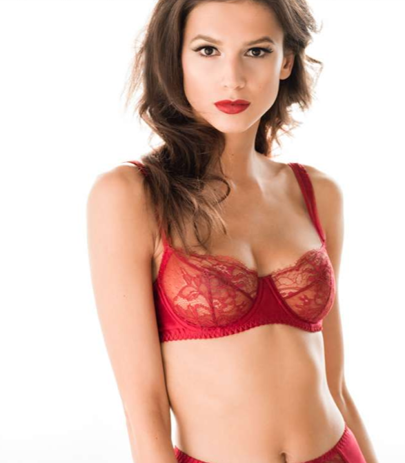 Red Luxury Lingerie Collection Amour From Fleur Of England-1347