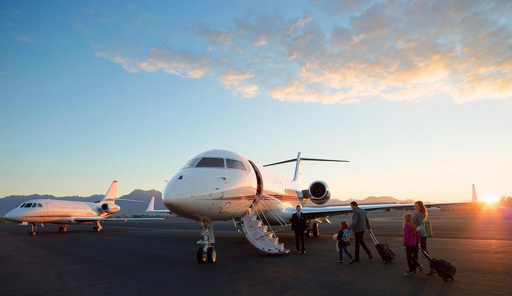 netjets boarding a plane