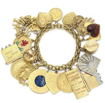 elizabeth taylors charm bracelet The Charm Bracelet: Charming Us Throughout the Ages EAT LOVE SAVOR International luxury lifestyle magazine and bookazines