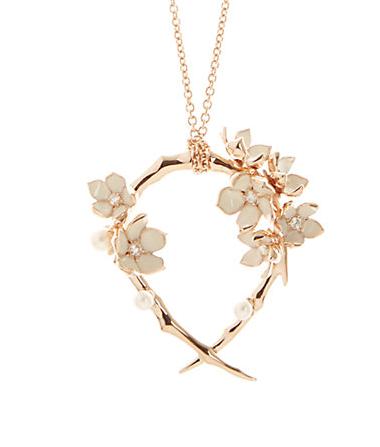 shawn leane hooped cherry blossom pendant