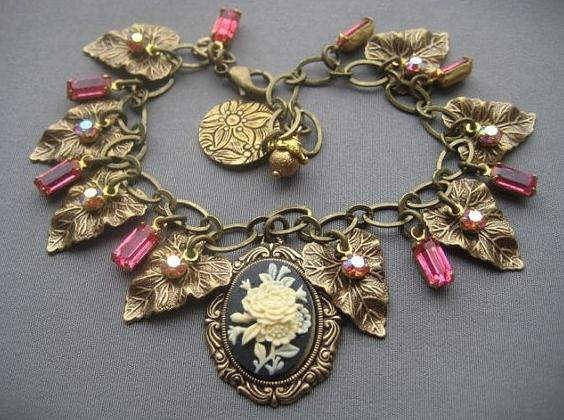 victorian charm bracelet