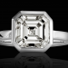 vision in white selected jewelers black back Stunning 5.04 Carat Asscher® Cut Diamond 'Vision in White' Selected Jewels Ring Dazzles - EAT LOVE SAVOR International luxury lifestyle magazine and bookazines