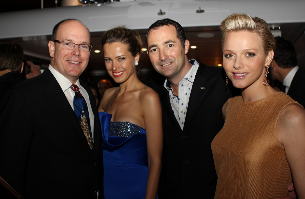 HSH Prince Albert II, Petra Nemcova, Nicholas Frankl, Princesss Charlene-My Yacht Monaco
