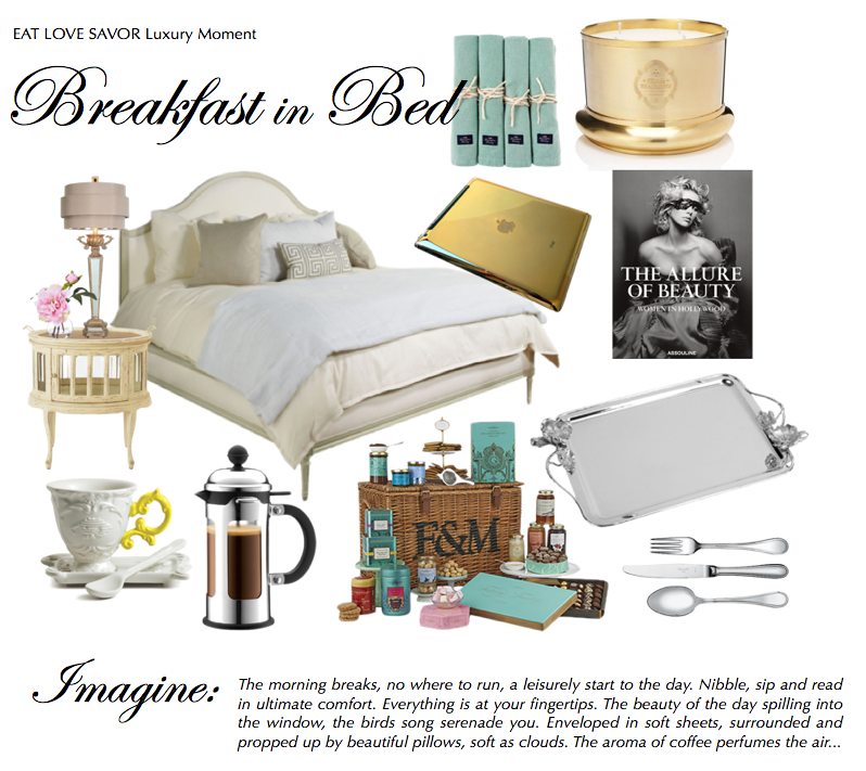 breakfast in bed Luxury Moment: A Leisurely Breakfast in Bed EAT LOVE SAVOR International luxury lifestyle magazine and bookazines