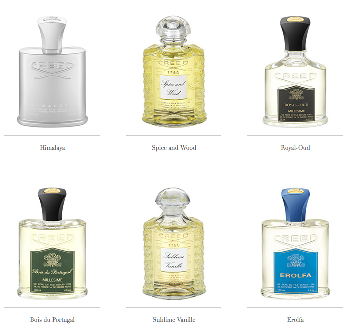 creed fragrances for men