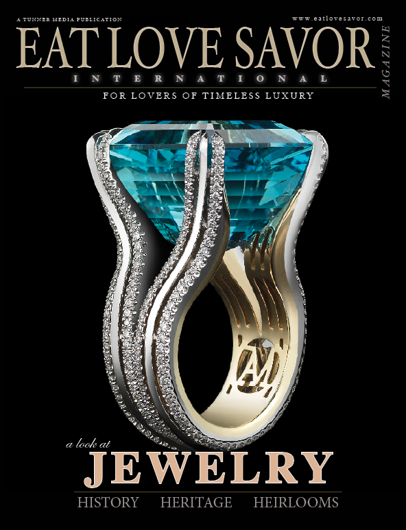 luxury lifestyle magazine eat love savor jewelry issue