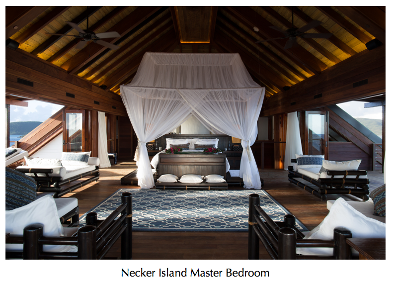 necker island master bedroom