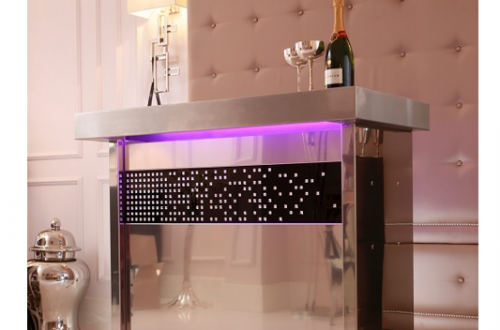 quench champagne bar Champagne Forever:  Crystal Covered Champagne Bar + Selection of Flutes and Ice Buckets - EAT LOVE SAVOR International luxury lifestyle magazine and bookazines