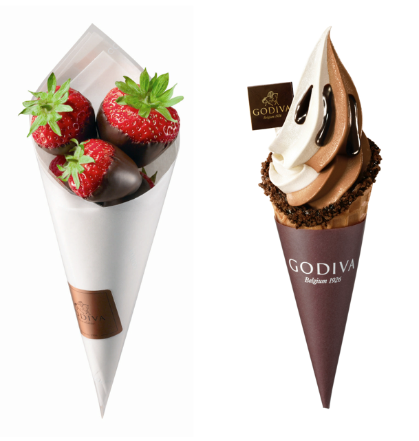 godiva and chocolate dipped strawberries Godiva Chocolates Serves Up Ice Cream and Strawberries - EAT LOVE SAVOR International luxury lifestyle magazine and bookazines