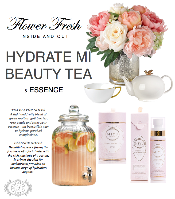 miyu beauty flower fresh Flower Fresh Inside and Out: MIYU Beauty Offers a Little Luxury Through Tea - EAT LOVE SAVOR International luxury lifestyle magazine and bookazines