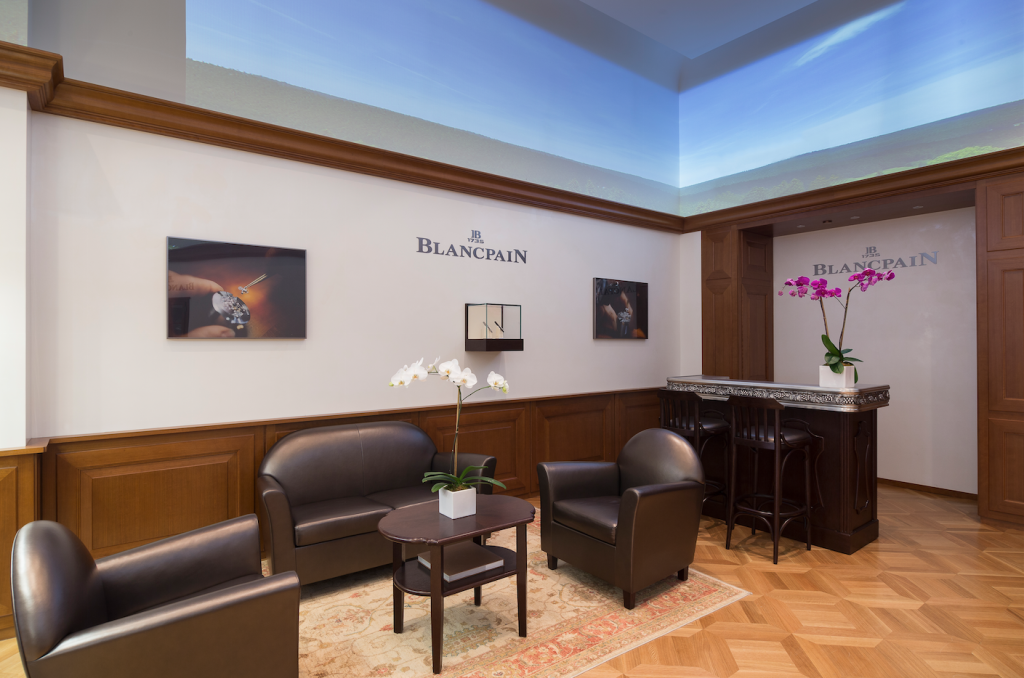 Blancpain boutique New York City sitting area