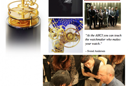 AHCI collage Académie Horlogère des Créateurs Indépendants, Patrons of the Fine Art of Mechanical Watchmaking EAT LOVE SAVOR International luxury lifestyle magazine and bookazines