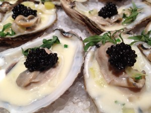 Caviar poached oysters Recipe: Poached Oysters with Leeks, Cream and Caviar - EAT LOVE SAVOR International luxury lifestyle magazine and bookazines