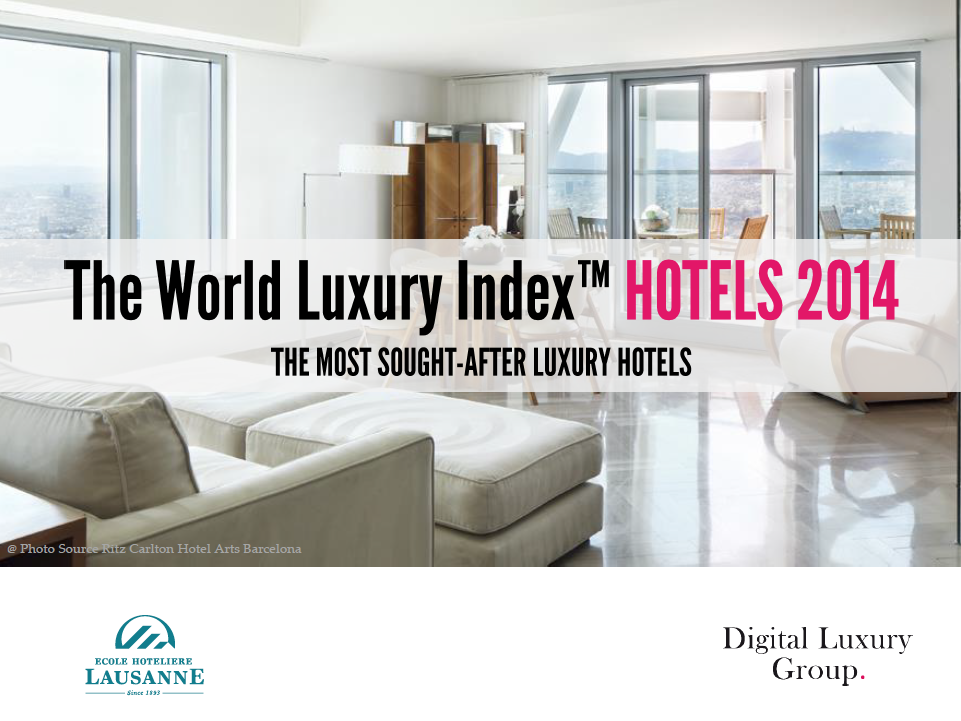 Global Consumer Interest for Luxury Hotels Rises + Top 50