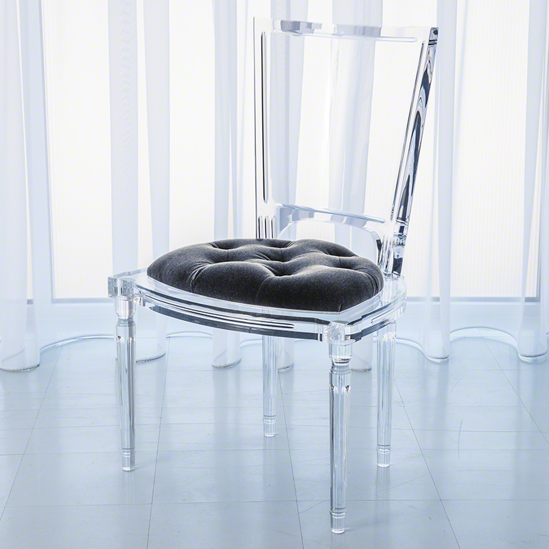 things global views acrylic marilyn arm chair eat love savor