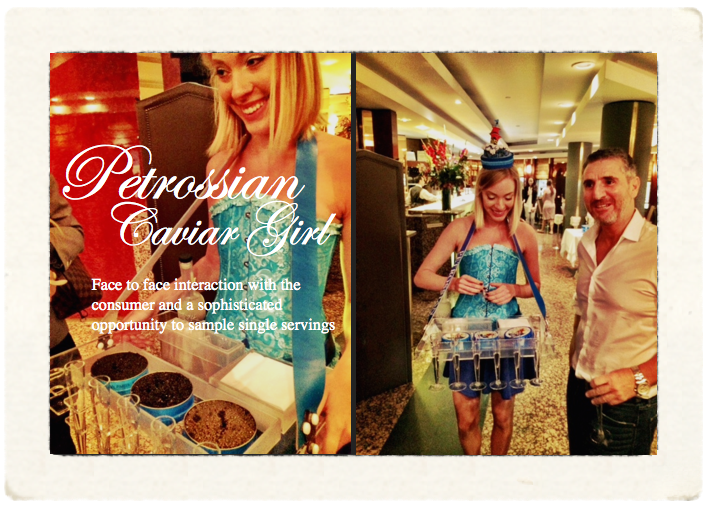 Petrossian caviar girl