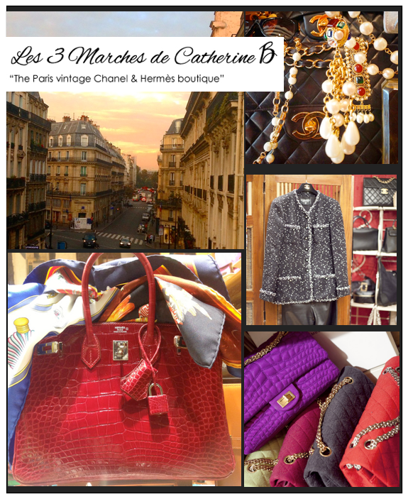 les 3 marches de catherine b Luxury Brief: Two Decades of Vintage Chanel and Hermès in Paris EAT LOVE SAVOR International luxury lifestyle magazine and bookazines