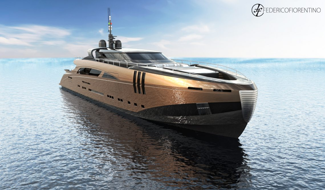 """The Belafonte, a 50 meter """"modern classic"""" new concept yacht"""