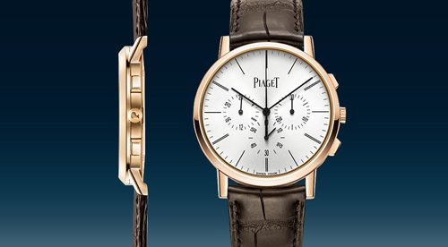 piaget flyback chronograph Piaget Presents World's Thinnest Hand-Wound Flyback Chronograph - EAT LOVE SAVOR International luxury lifestyle magazine and bookazines