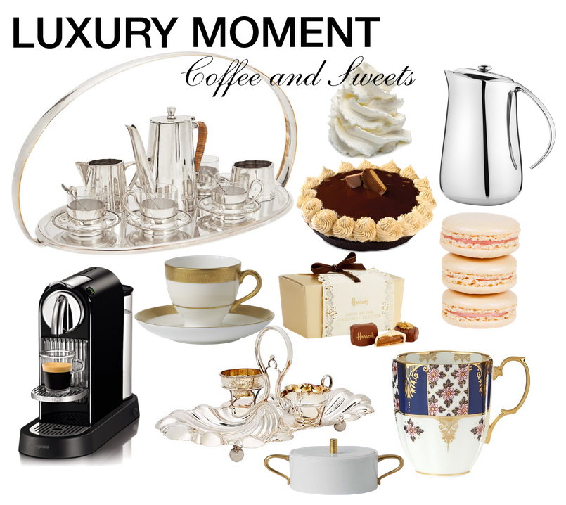 luxury moment coffee and sweets