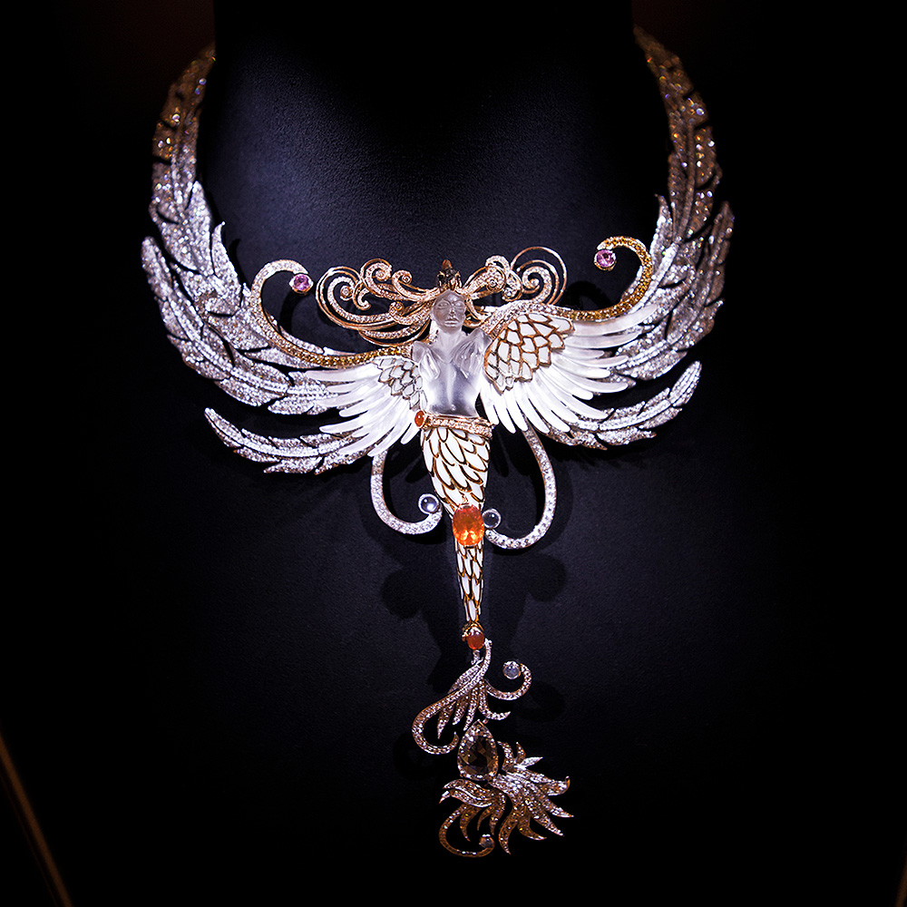 rene lalique high jewelry sacred fire odyssey necklace