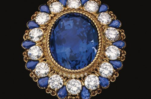 Gold Diamond Yellow Diamond and Sapphire Notre Dame Clip Alexandre Reza Sapphires: Gemstones Symbolic of Nobility and Truth EAT LOVE SAVOR International luxury lifestyle magazine and bookazines