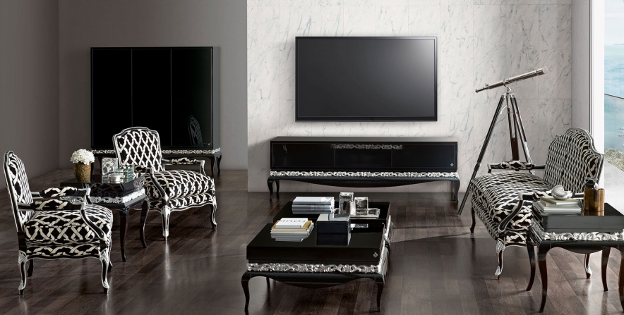 Jetclass luxus living room black Timeless Design and Modern Technology:  Luxury Furnishing from Jetclass EAT LOVE SAVOR International luxury lifestyle magazine and bookazines
