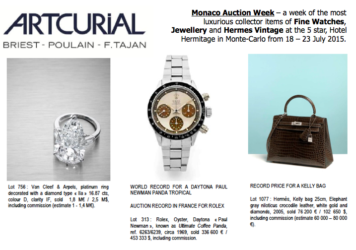 artcurial monaco auction week july 2015