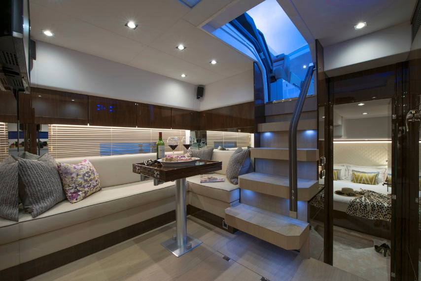 Fairline unveils first luxury boat showcasing its new for Interior boat designs
