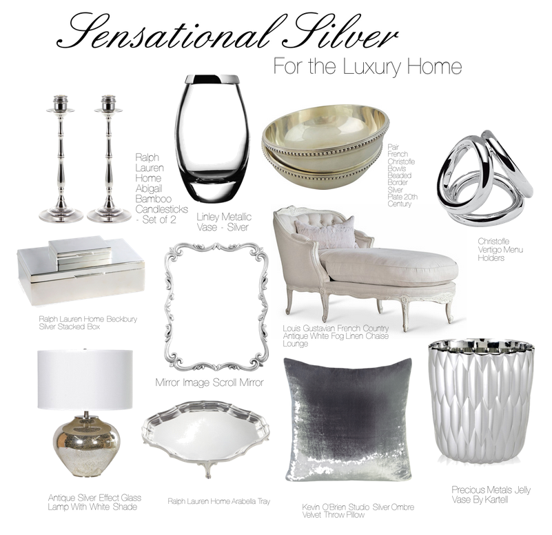 sensational silver Sparkling Sterling Silver Graces the Luxury Home - EAT LOVE SAVOR International luxury lifestyle magazine and bookazines