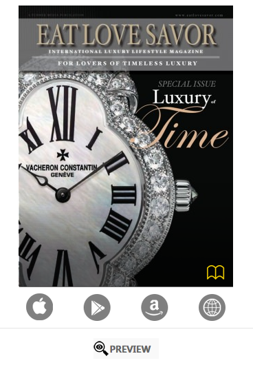 luxury of time cover - luxury lifestyle magazine - eat love savor