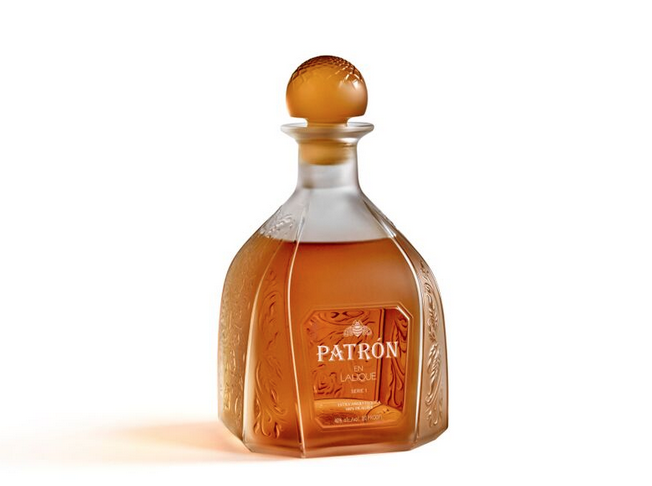 Lalique Patron Tequila bottle limited edition