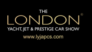 london yacht jet prestige car show on black